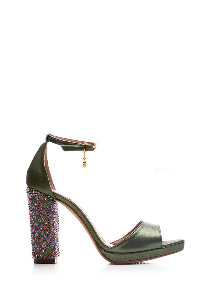 Sandale din piele accesorizate Delight Hannami imagine 0
