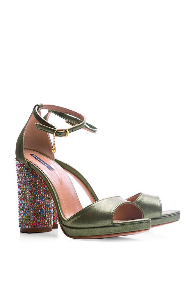 Sandale din piele accesorizate Delight Hannami imagine 1