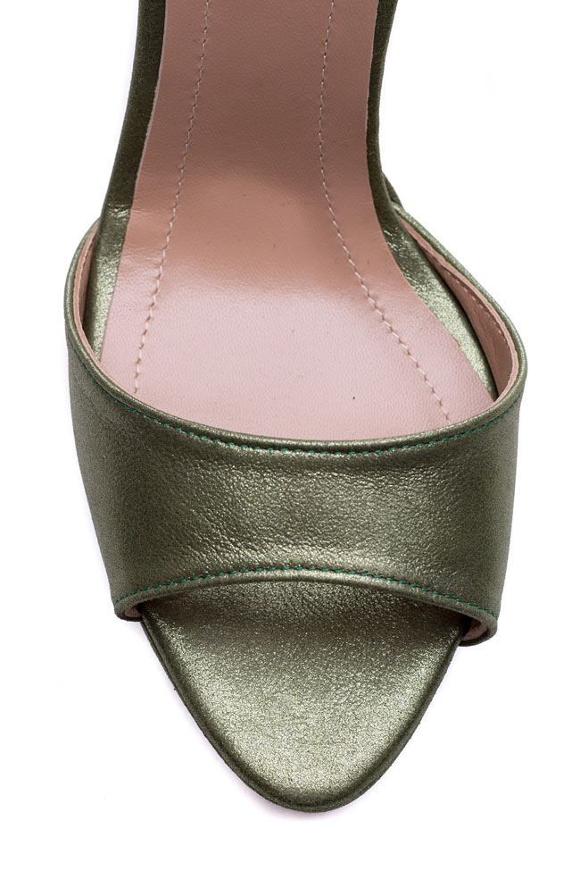 Sandale din piele accesorizate Delight Hannami imagine 3