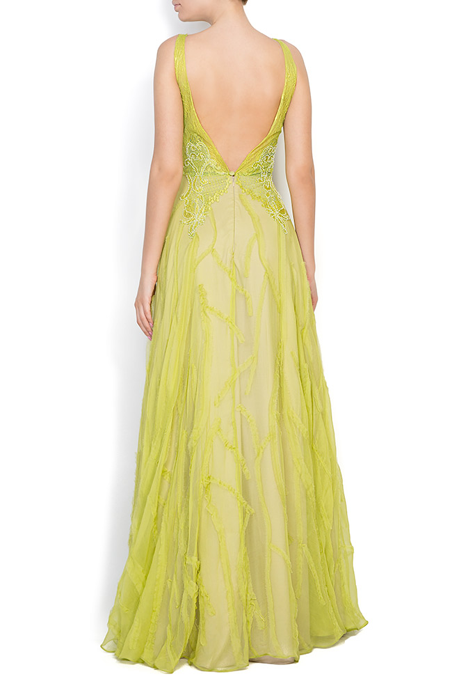 Harmony embroidered silk lace gown Nicole Enea image 2