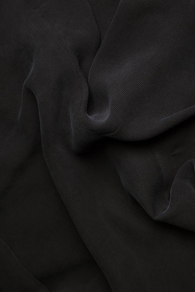 Asymmetric ruffled crepe mini dress  Larisa Dragna image 4