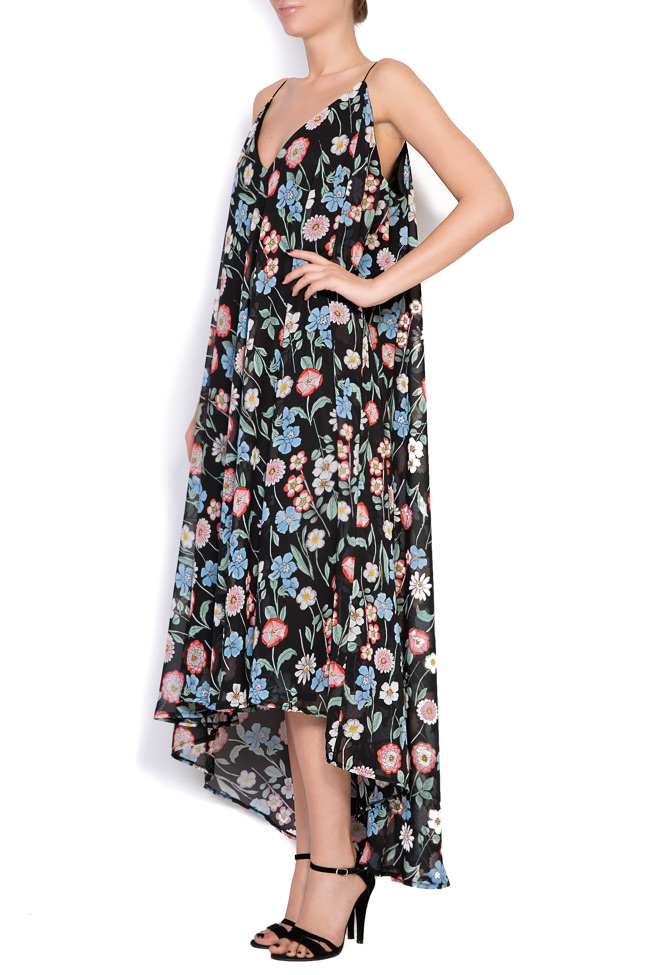 Asymmetric printed chiffon midi dress Hard Coeur image 1