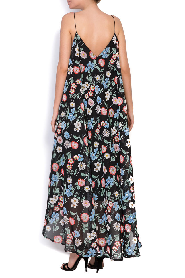 Asymmetric printed chiffon midi dress Hard Coeur image 2