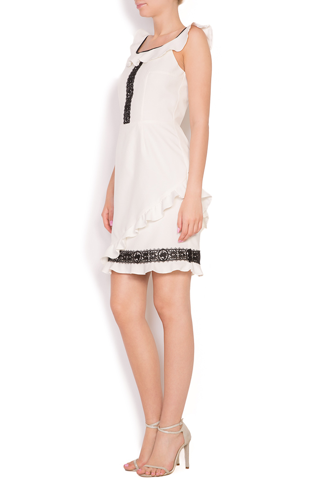 Rochie din stofa brodata cu dantela Alessandra  Pulse  imagine 1