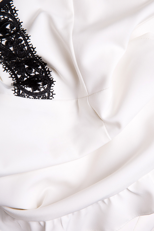 Rochie din stofa brodata cu dantela Alessandra  Pulse  imagine 4