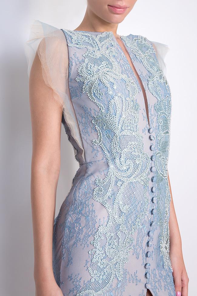 Robe en soie et dentelle Chantilly brodée à la main Nicole Enea image 3