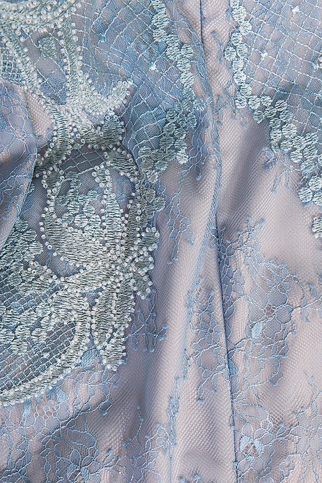 Robe en soie et dentelle Chantilly brodée à la main Nicole Enea image 4