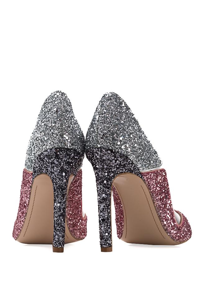 Pantofi din piele si sclipici cu insertii din PVC Tutti Frutti Mihai Albu imagine 2