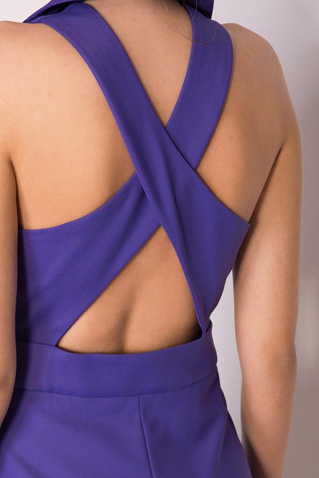 Gilet asymétrique en crêpe avec le dos nu Larisa Dragna image 3