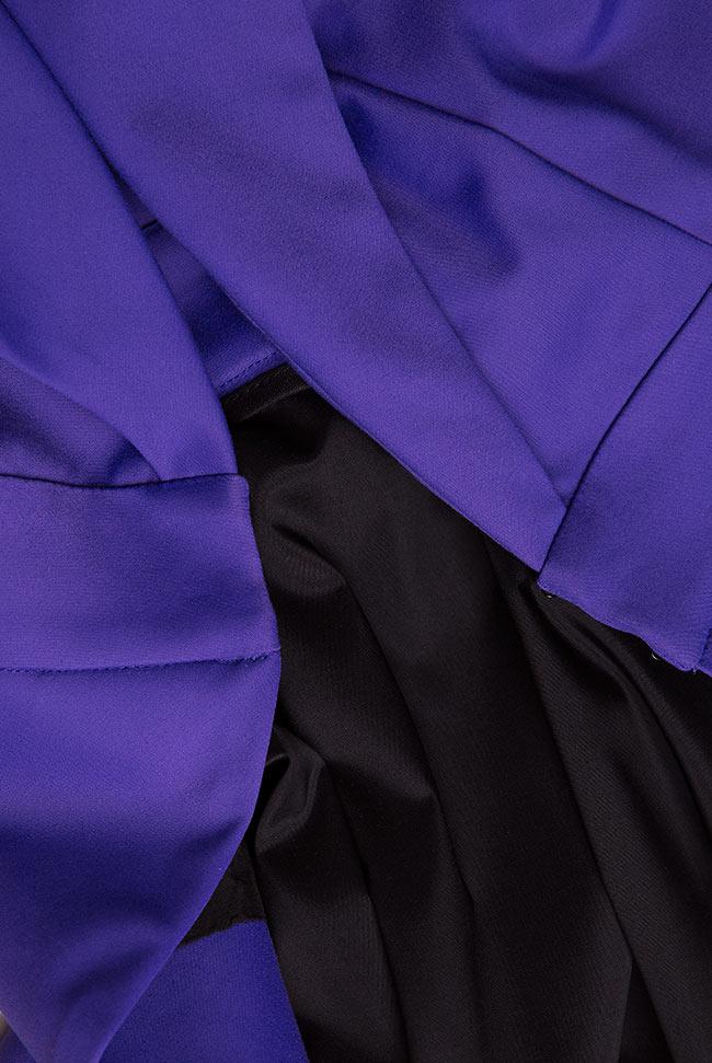 Open-back asymmetric crepe vest Larisa Dragna image 4