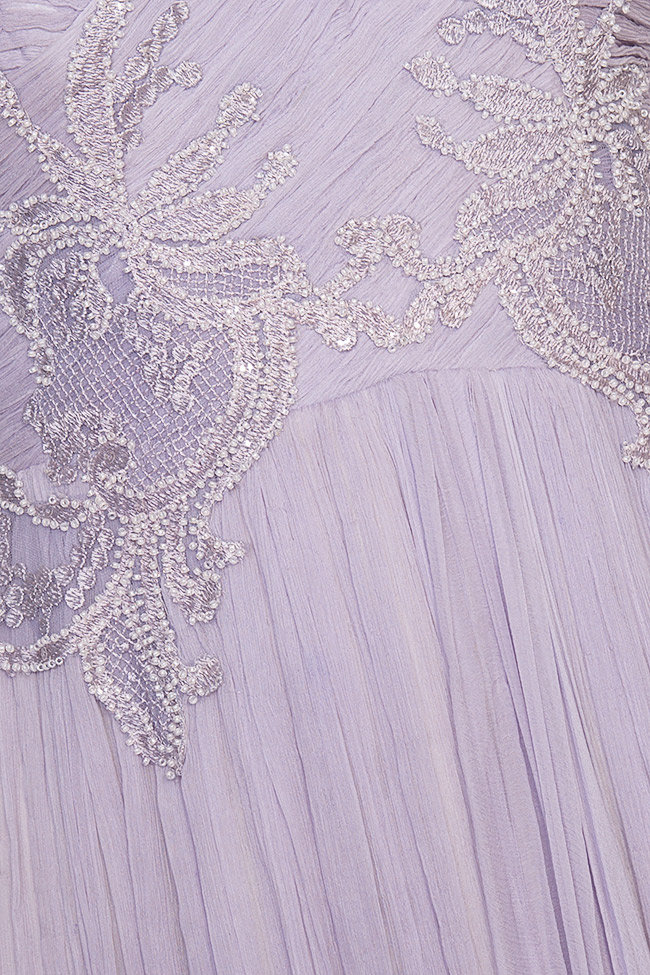 Lavender embroidered silk-mousseline gown Nicole Enea image 4