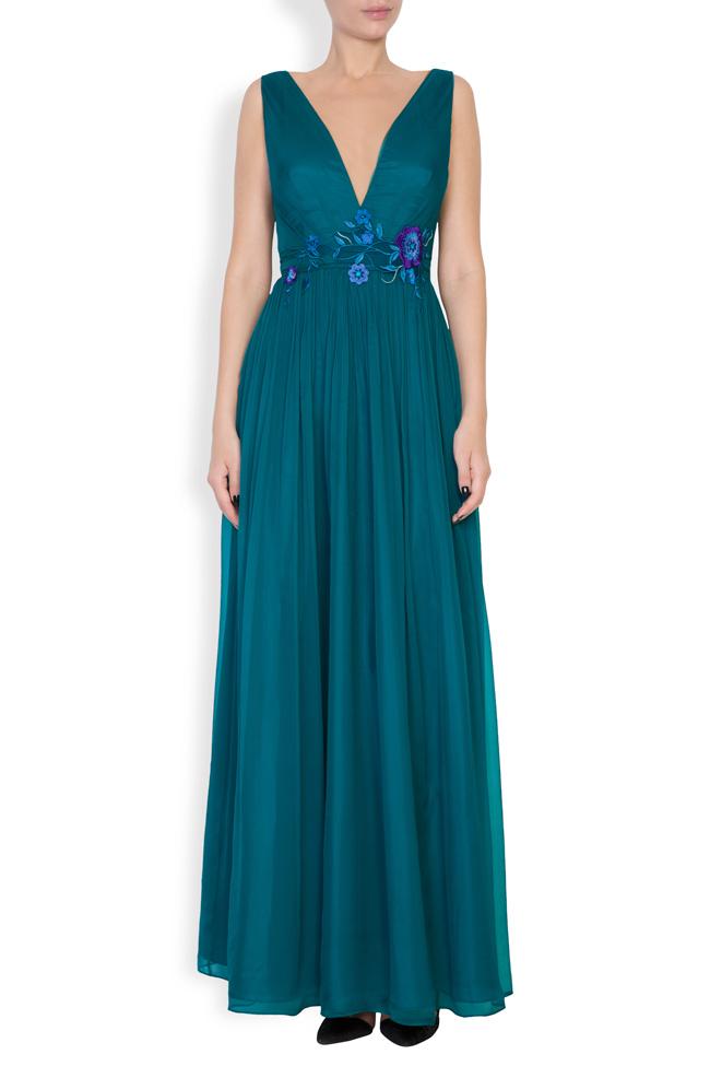 Sophie embellished silk gown Mirela Pellegrini image 0