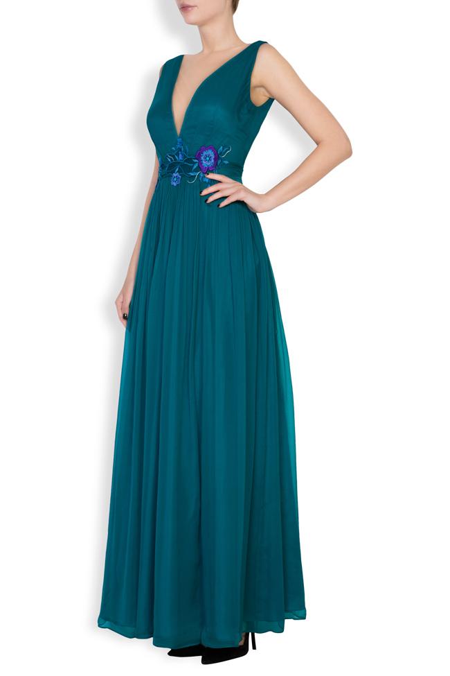 Sophie embellished silk gown Mirela Pellegrini image 1
