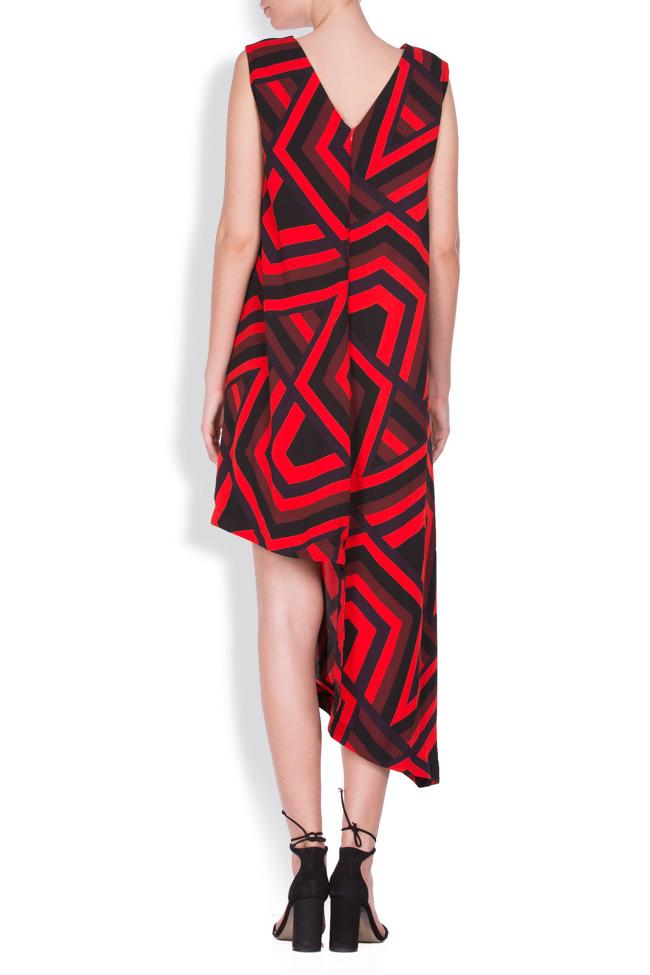Abstract-print asymmetric mini dress AD The Brand image 2
