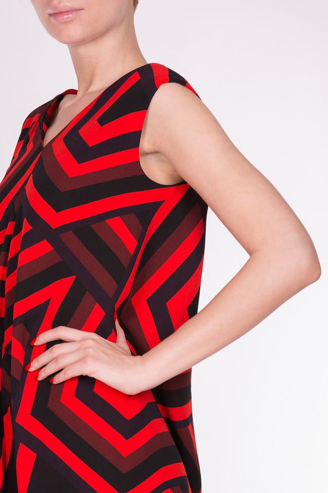Abstract-print asymmetric mini dress AD The Brand image 3