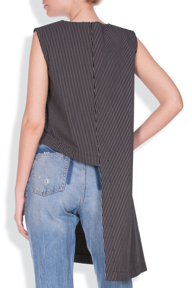 Asymmetric striped top AD The Brand image 2