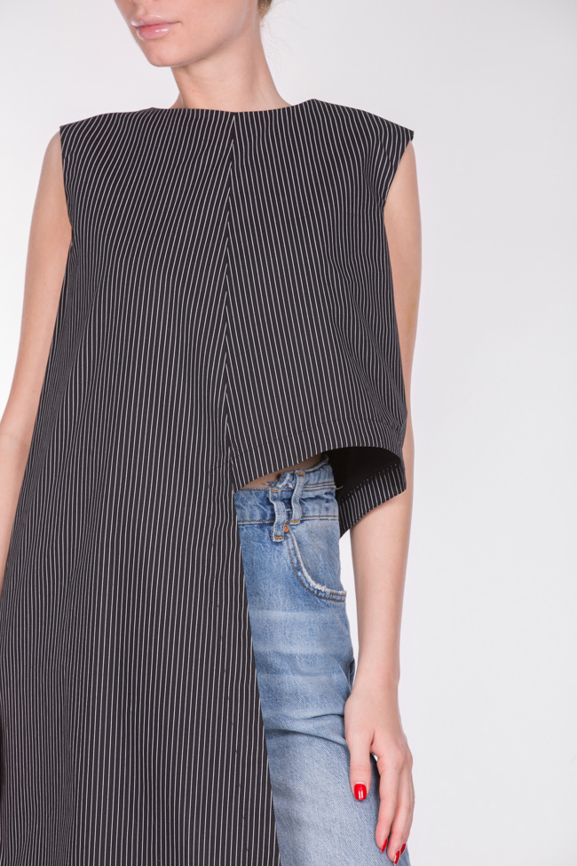 Asymmetric striped top AD The Brand image 3