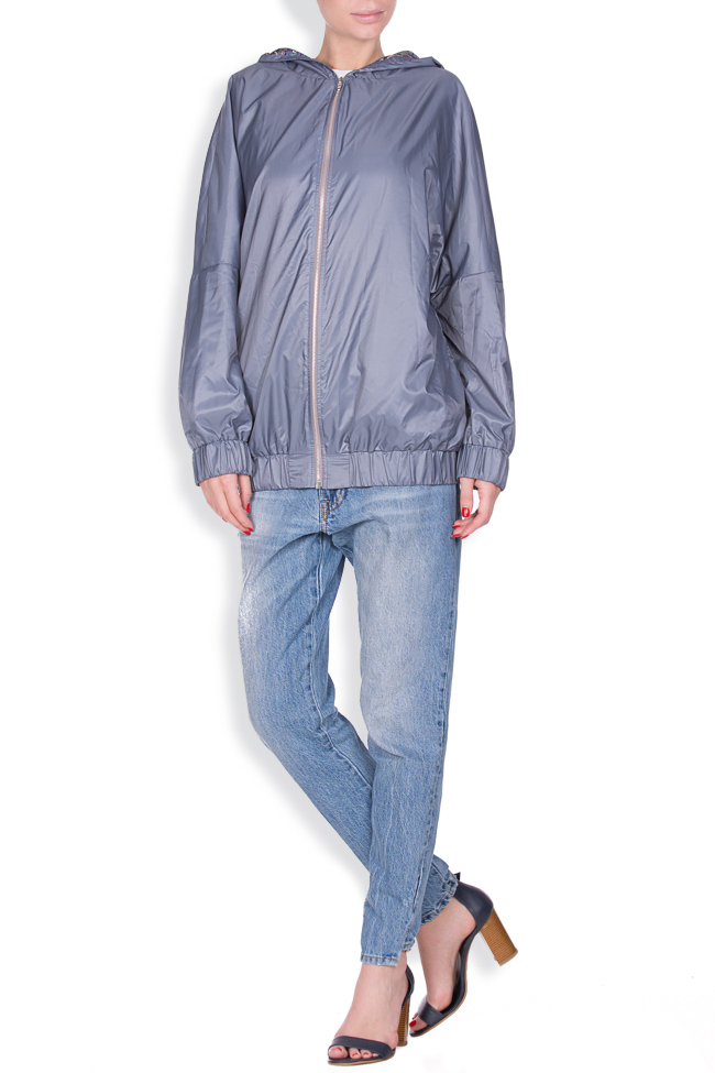 Hooded shell bomber jacket AD The Brand image 0