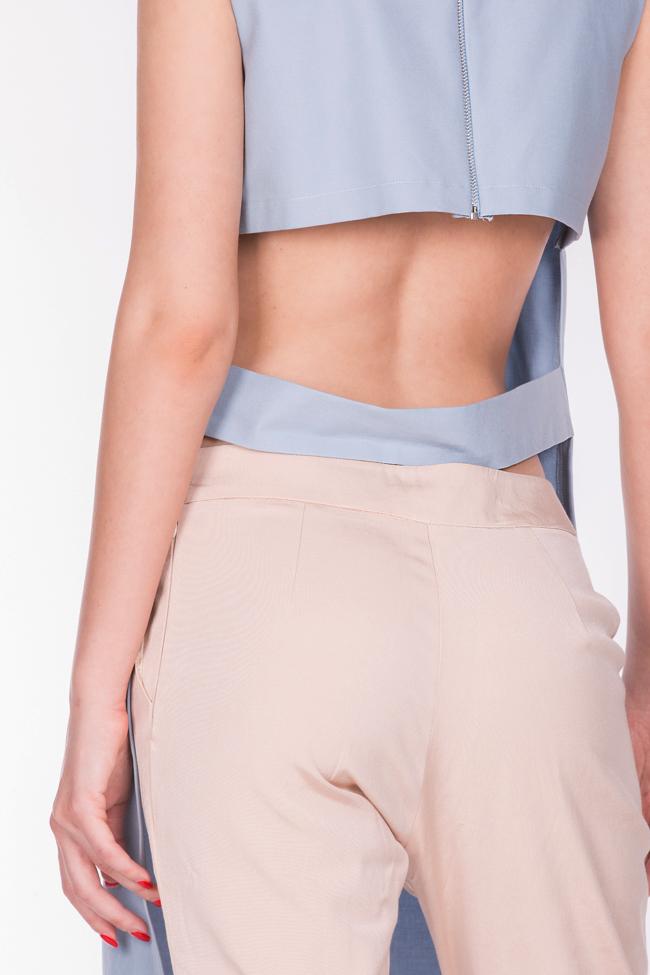 Blouse asymétrique en coton avec découpe au dos AD The Brand image 3