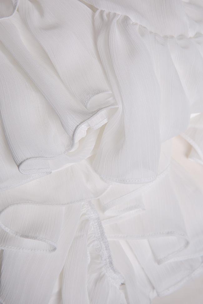 Robe en crêpe avec volants Monarh image 4