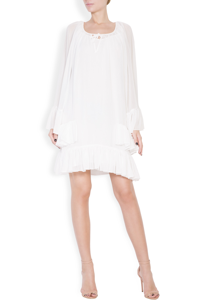 Ruffled crepe mini dress Monarh image 0