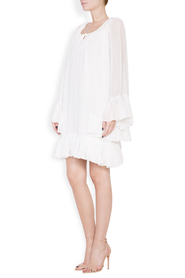 Ruffled crepe mini dress Monarh image 1
