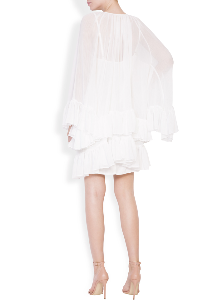 Ruffled crepe mini dress Monarh image 2