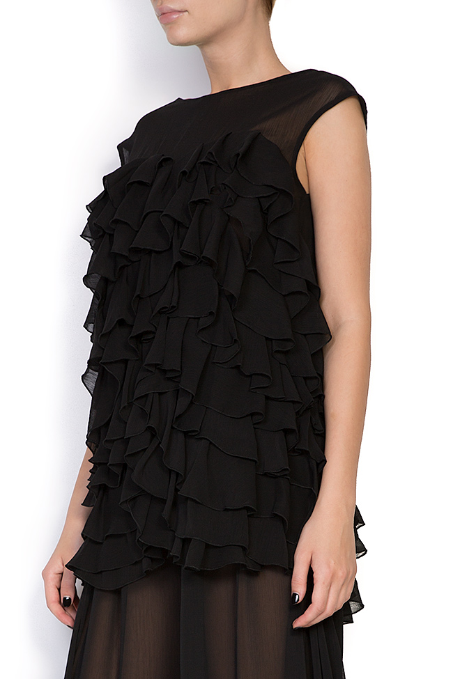 Oversized ruffled voile top Monarh image 1