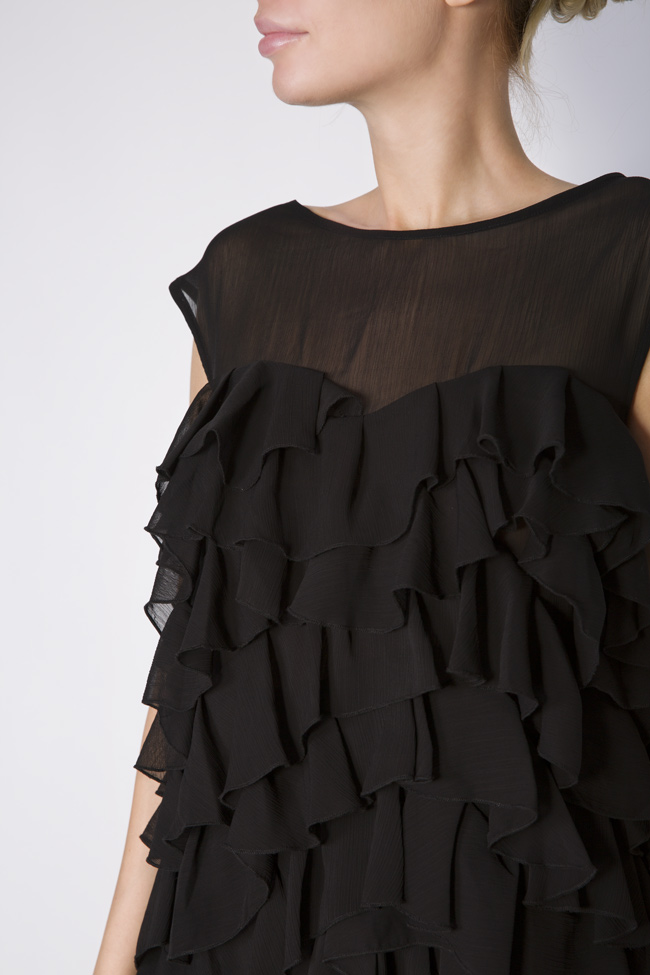 Oversized ruffled voile top Monarh image 3