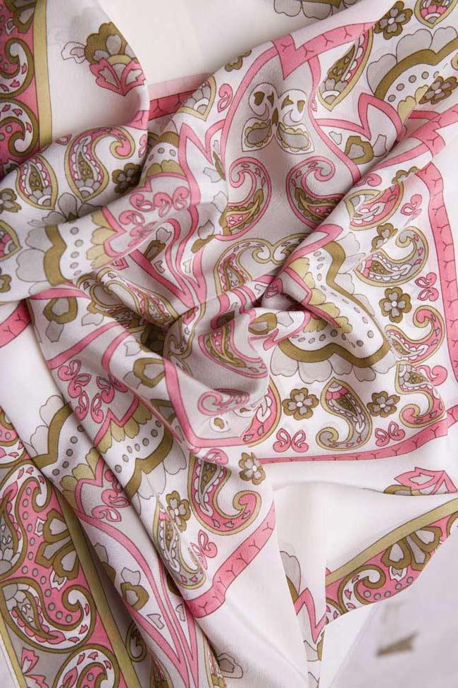 Bluza din matase cu imprimeu Oana Manolescu imagine 4