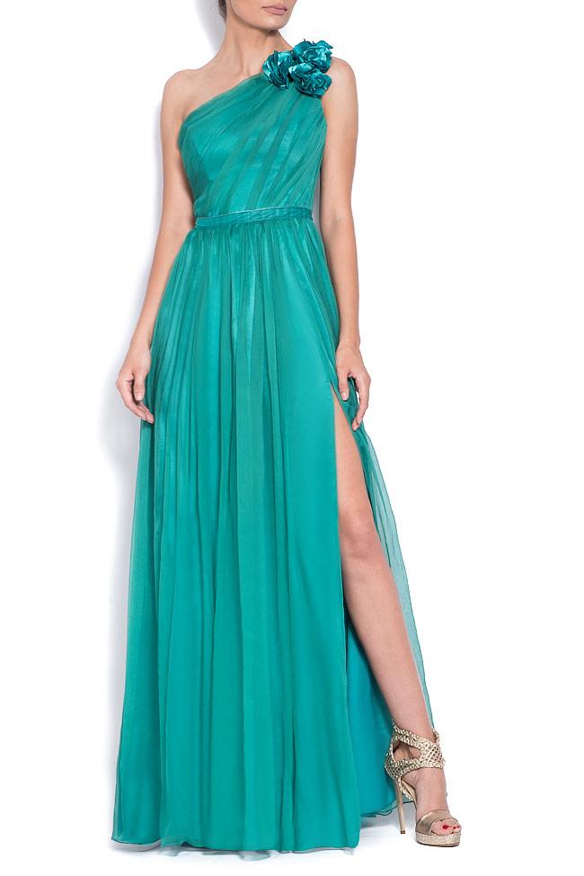 One-shoulder silk midi dress Bien Savvy image 0