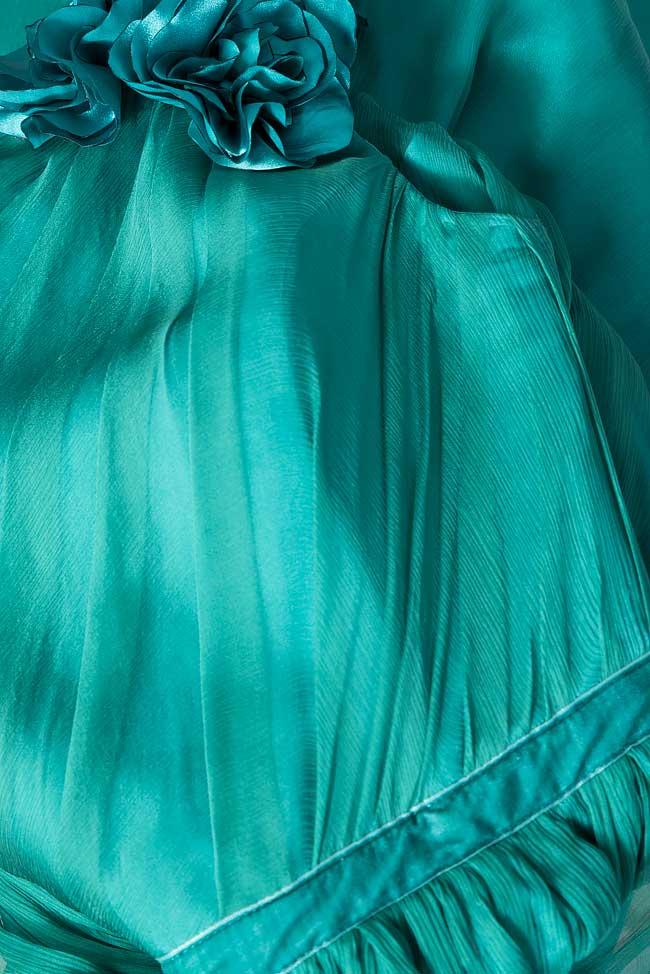 One-shoulder silk midi dress Bien Savvy image 4