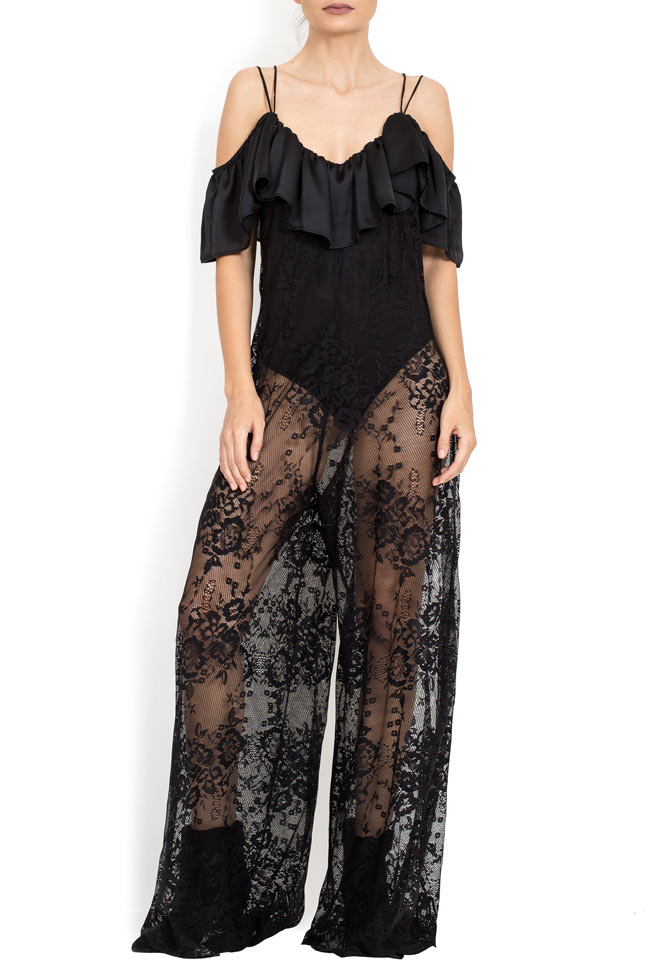 Cold-shoulder ruffled lace jumpsuit BADEN 11 image 0