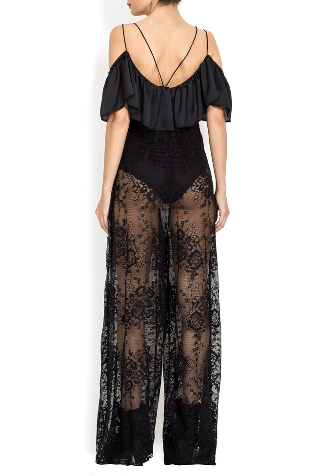 Cold-shoulder ruffled lace jumpsuit BADEN 11 image 2