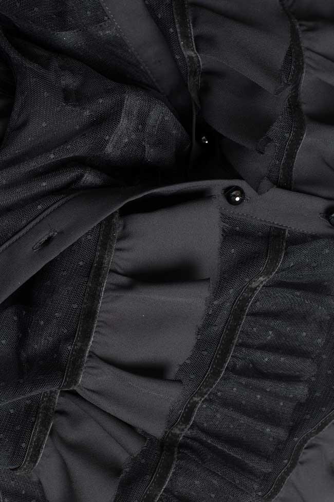 Rochie mini din tul cu volane aplicate BADEN 11 imagine 3