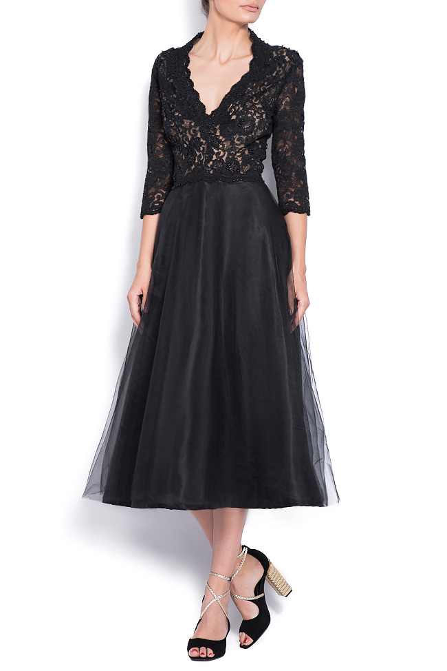Embellished tulle and lace dress Bien Savvy image 0