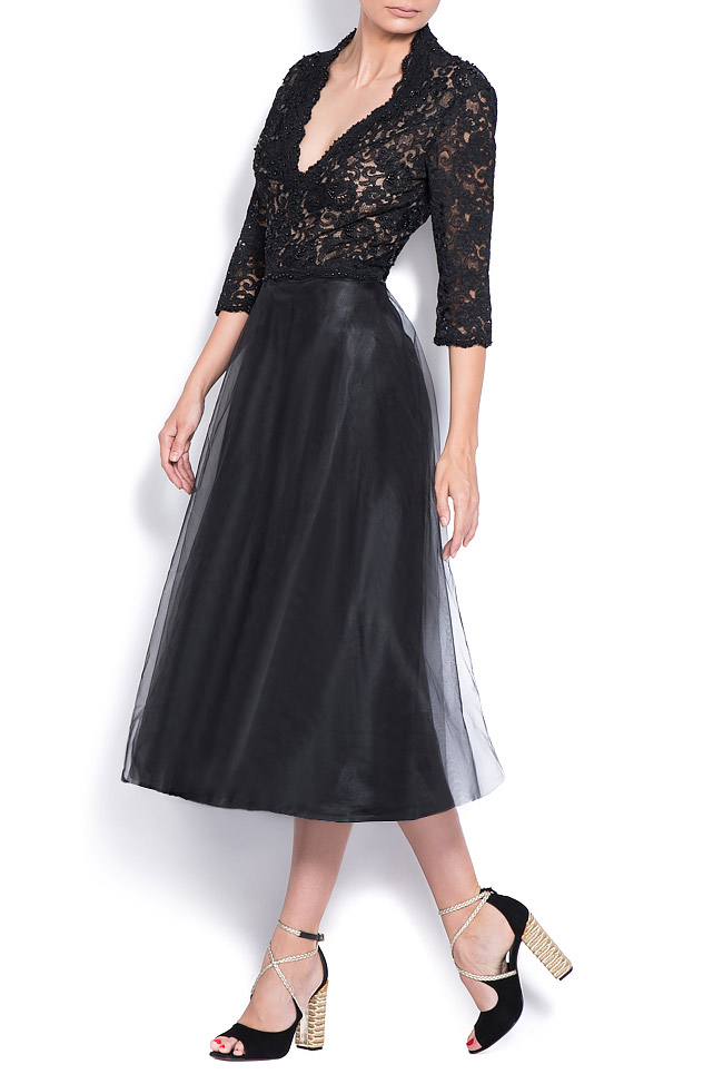 Embellished tulle and lace dress Bien Savvy image 1