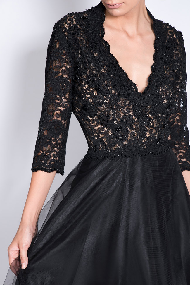 Embellished tulle and lace dress Bien Savvy image 3