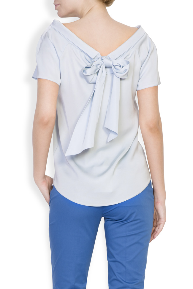 Bluza din viscoza Lizie DALB by Mihaela Dulgheru imagine 1