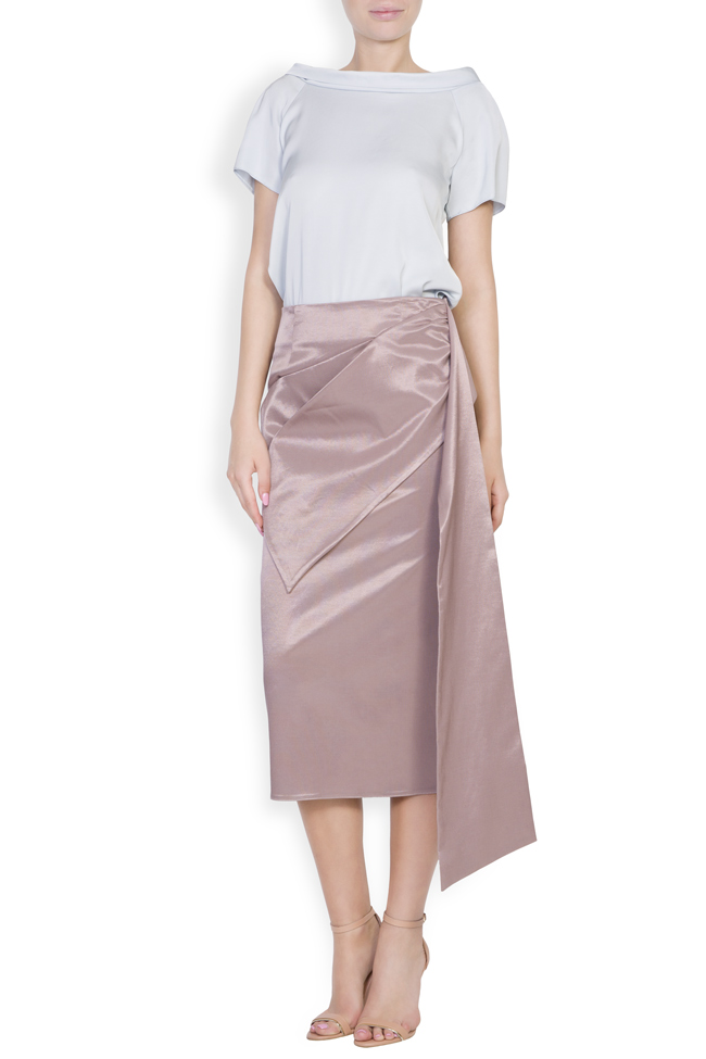 Darling satin cotton midi skirt DALB by Mihaela Dulgheru image 0