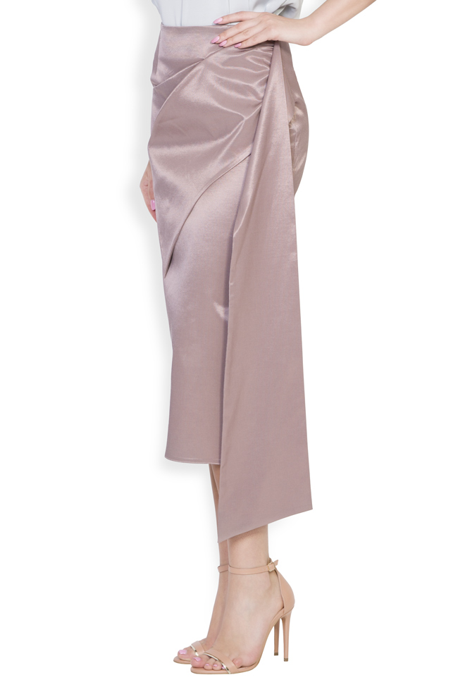 Darling satin cotton midi skirt DALB by Mihaela Dulgheru image 1