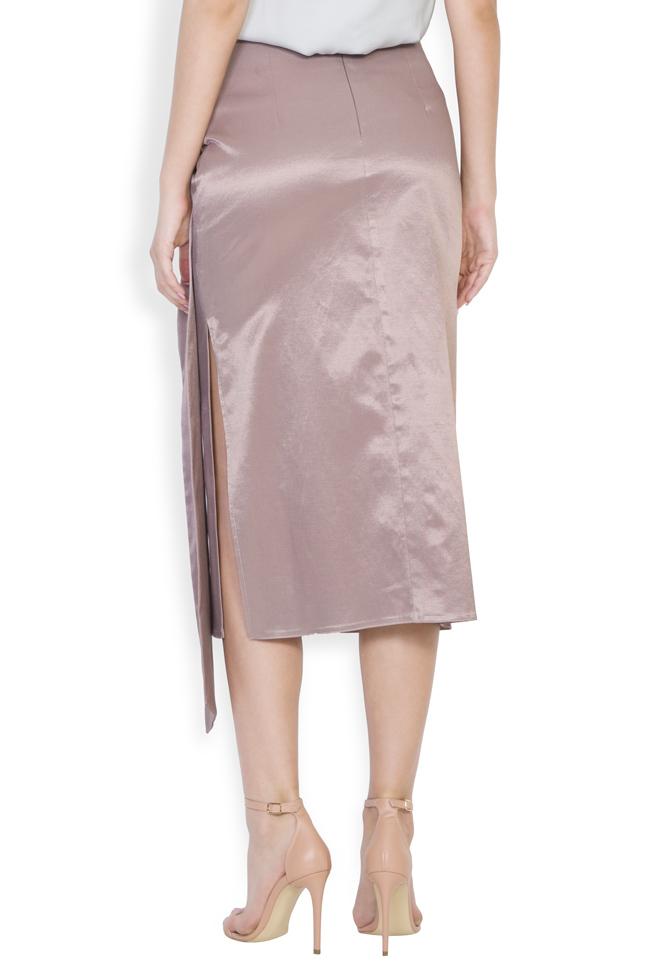 Darling satin cotton midi skirt DALB by Mihaela Dulgheru image 2