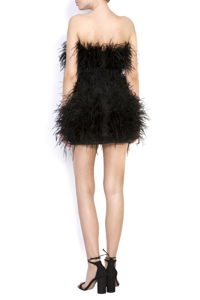 Robe en coton et plumes d'autruche Black Moulin Rouge OMRA image 2