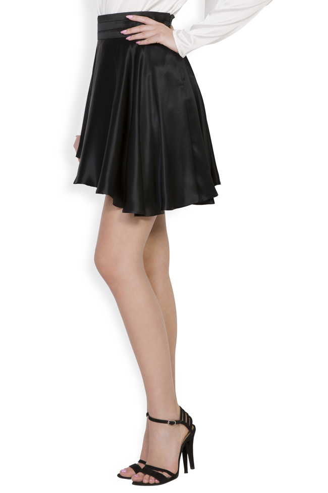 Asymmetric silk satin mini skirt Grigori Ciliani image 1