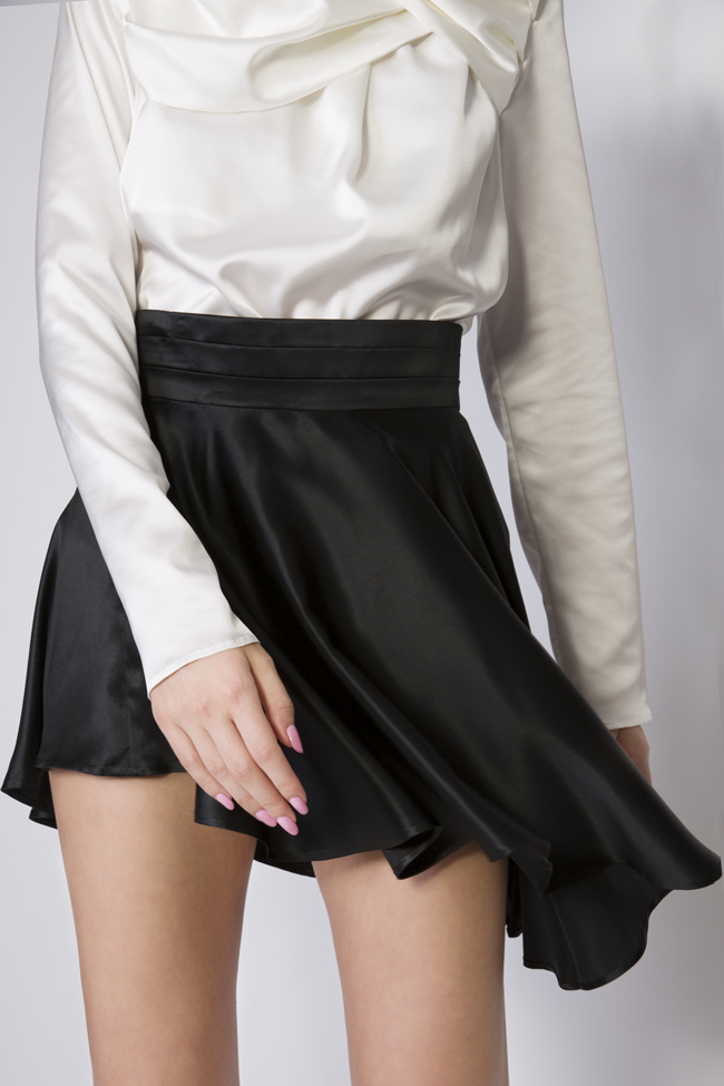 Asymmetric silk satin mini skirt Grigori Ciliani image 3