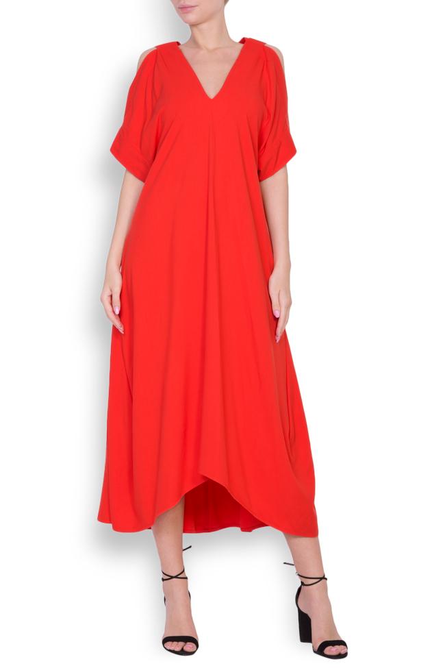 Cold-shoulder asymmetric dress Bluzat image 0