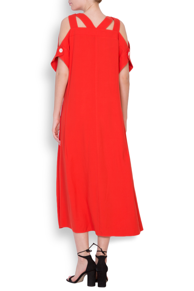 Cold-shoulder asymmetric dress Bluzat image 2