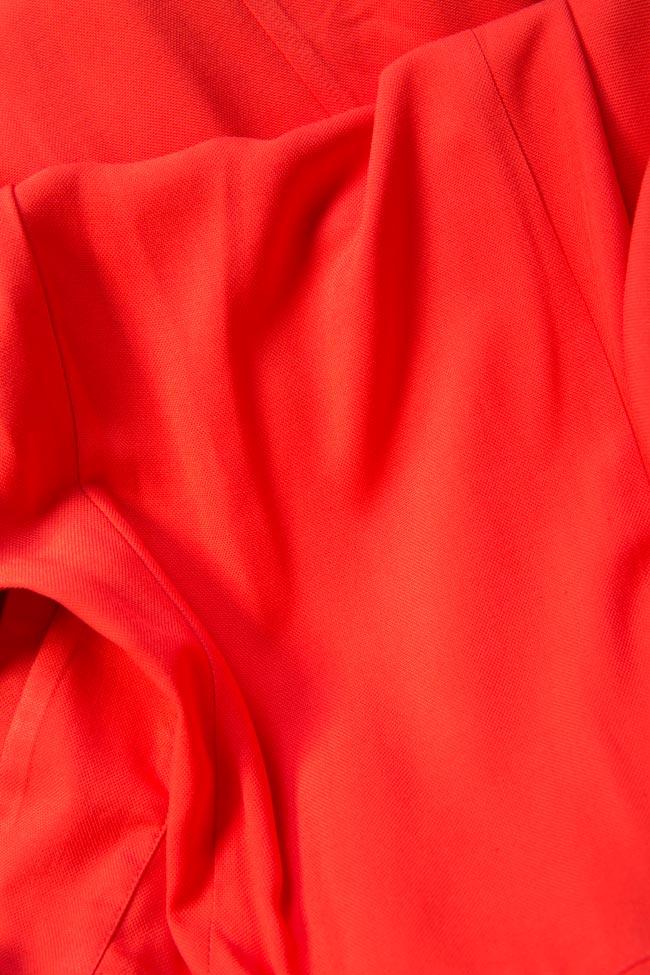 Rochie asimetrica din viscoza cu umeri decupati Bluzat imagine 4