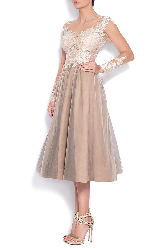 Embellished lace tulle midi dress Bien Savvy image 1