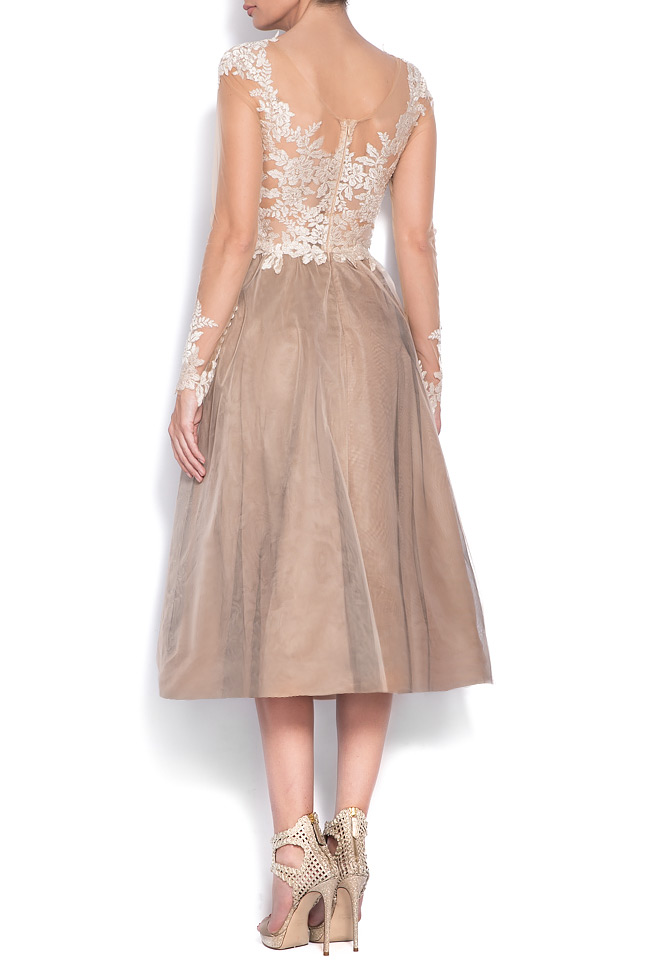 Embellished lace tulle midi dress Bien Savvy image 2